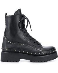 Pinko - Studded Combat Boots - Lyst