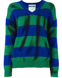 Moschino - Trompe-l'œil Striped Jumper - Lyst