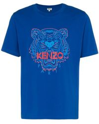 KENZO - Cotton Tiger Short Sleeved T-shirt - Lyst