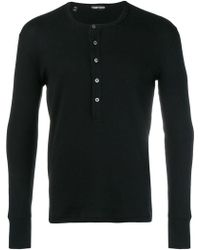 Tom Ford - Button Placket T-shirt - Lyst