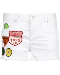DSquared² - Patch-work Denim Shorts - Lyst