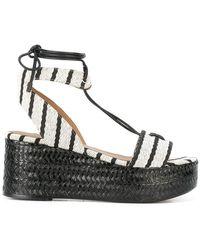 Sonia Rykiel - Striped Wedge Sandals - Lyst
