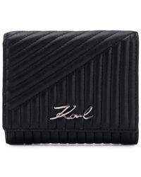 Karl Lagerfeld - K/signature Quilted Wallet - Lyst