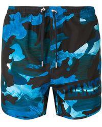 Neil Barrett - Dance Camouflage Print Swim Shorts - Lyst