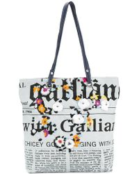 John Galliano - Newspaper Print Shoulder Bag - Lyst