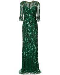 Jenny Packham - Robe longue à ornements - Lyst
