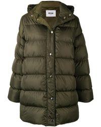 MSGM - Oversized Padded Coat - Lyst