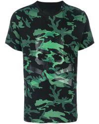 Philipp Plein - Camouflage Skull Print T-shirt - Lyst