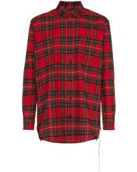 Mastermind Japan - Camisa de cuadros con logo estampado - Lyst