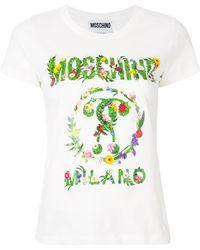 Moschino - Garland Logo T-shirt - Lyst