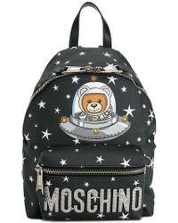 "Moschino - ""ufo Teddy"" Black Backpack - Lyst"