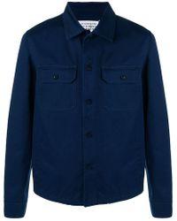 d633a5b7ba4f Lyst - Maison Margiela Black Gabardine Shirt in Black for Men