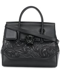 22db4b915351 Lyst - Versace Woven  palazzo Empire  Bag in Black