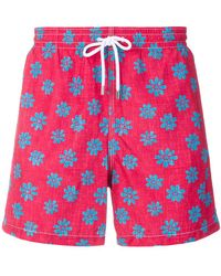 Aspesi - Flower Print Swim Shorts - Lyst