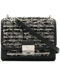 Karl Lagerfeld - K/kuilted Tweed Small Tote Bag - Lyst