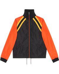 Gucci - Nylon Jacket With Logo - Lyst