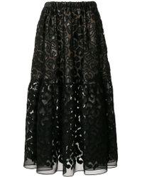 Stella McCartney - Textured Sheer Skirt - Lyst
