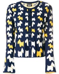 Boutique Moschino - Dog Pattern Buttoned Cardigan - Lyst