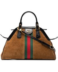 Gucci - Brown Small Re(belle) Suede Shoulder Bag - Lyst