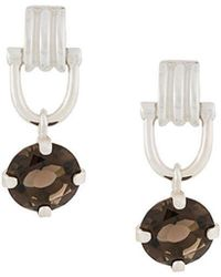 Wouters & Hendrix - A Wild Original! Dangling Clasp Smokey Quartz Earrings - Lyst