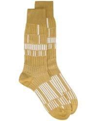 Ayamé - Beige Basket Lunch Patterned Socks - Lyst