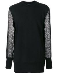 Ann Demeulemeester - Sheer Sleeve Sweatshirt - Lyst