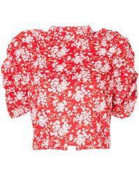 ShuShu/Tong - Floral Print Balloon Sleeve Top - Lyst