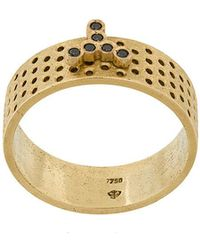 Savoir Joaillerie - 18kt Yellow Gold And Diamonds Lui Ring - Lyst