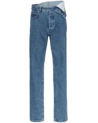 Y. Project - Flap-waist Straight Leg Jeans - Lyst