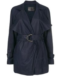 DROMe - Belted Short Trench Coat - Lyst