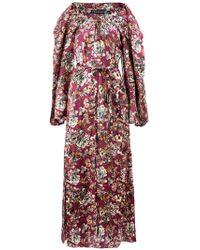 Y. Project - Floral Drawstring Neck Maxi Dress - Lyst