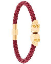 Northskull - Woven Skull Bracelet - Lyst