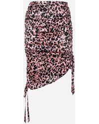 Laneus - Leopard Print Skirt - Lyst