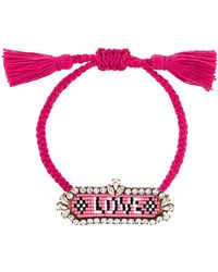 Shourouk - 'love' Beaded Bracelet - Lyst