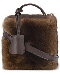 Natasha Zinko Square Box Bag - Brown