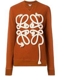 Loewe - Logo Rope Sweatshirt - Lyst