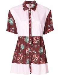 I'm Isola Marras - Floral Print Panelled Shirt - Lyst