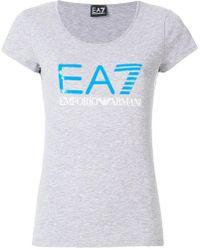 EA7 - Scoop Logo T-shirt - Lyst