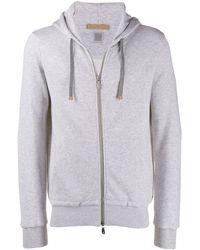 Eleventy Hooded Sports Jacket - Gray