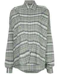 Moohong - Checked Double Shirt - Lyst