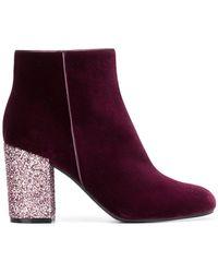 Pollini - Glitter Heel Ankle Boots - Lyst