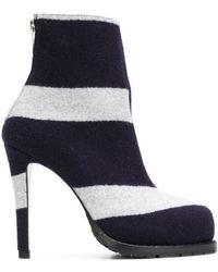Sacai - Striped Ankle Boots - Lyst