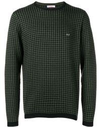 Sun 68 - Houndstooth Pattern Sweater - Lyst