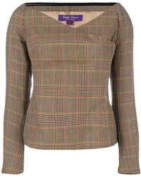 Ralph Lauren Collection - Checked Blouse - Lyst