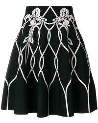 Alexander McQueen - High Waisted Knitted Skirt - Lyst