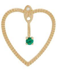 Yvonne Léon - 18kt Gold And Emerald Heart Earrings - Lyst