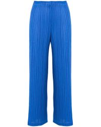Pleats Please Issey Miyake | Pleated Cropped Trousers | Lyst