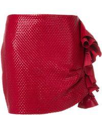 Magda Butrym | Ruffled Mini Skirt | Lyst