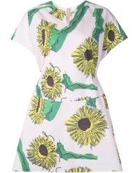 Julien David | Sunflower Print Day Dress | Lyst