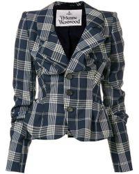 Vivienne Westwood - Gathered Check Jacket - Lyst